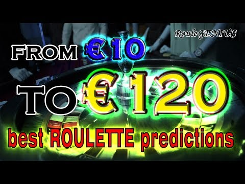 From 10 to 120 EUR in 10 min REAL Money (RouleGENIUS roulette predictions)