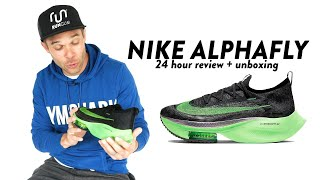 I wore ALPHAFLYS for 24 HOURS STRAIGHT (unboxing + review)
