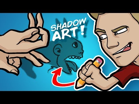 SHADOW ART CHALLENGE! - WARNING: This video is DARK...