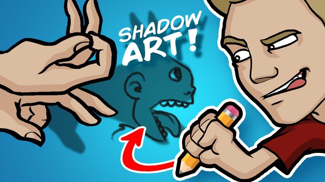 SHADOW ART CHALLENGE! - WARNING: This video is DARK...