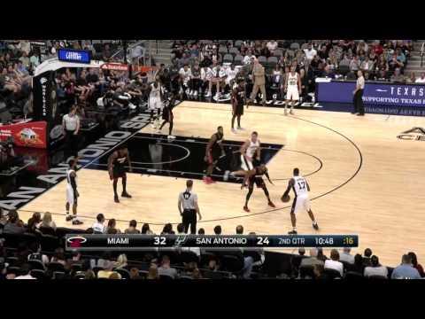 San Antonio Spurs First Half Motion Highlights | October 14, 2016 | 2016-17 NBA Preseason