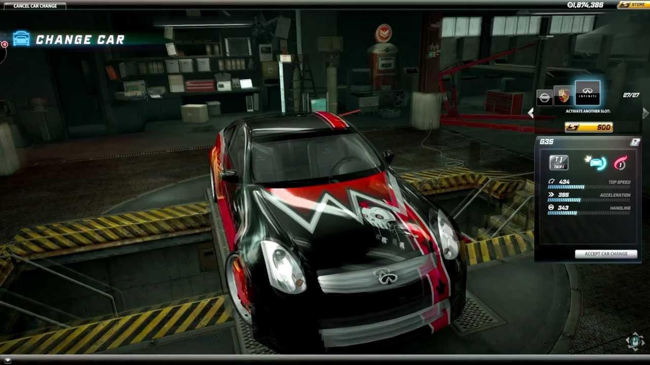 Infiniti G35 Custom >> Infiniti G35 custom paint job Need For Speed World Death Squad Shogun - YouTube