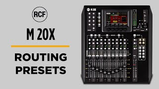 RCF M 20X DESKTOP DIGITAL MIXER - ROUTING PRESETS