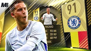 FIFA 18 IF HAZARD REVIEW | 91 IF HAZARD PLAYER REVIEW | FIFA 18 ULTIMATE TEAM