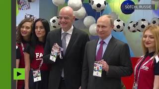 Deux nouveaux supporteurs pour la Coupe du monde : Vladimir Poutine et Gianni Infantino