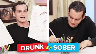 Drunk Vs. Sober: Drawing A Self-Portrait