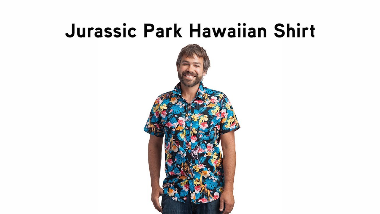 ee66b8cce Jurassic Park Hawaiian Shirt from ThinkGeek - YouTube