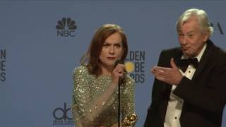 Isabelle Huppert - Golden Globes 2017 - Full Backstage Interview