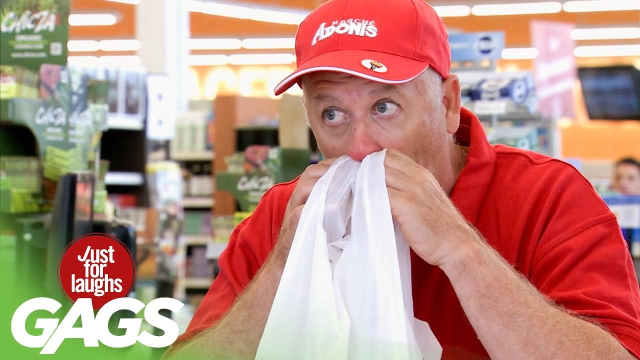 Grocery Store Clerk Sneezes into Customers' Bags