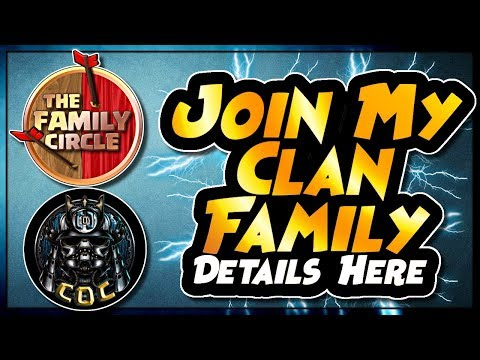 JOIN MY AMAZING CLASH OF CLANS FAMILY | RECRUITMENT DETAILS | The Circles