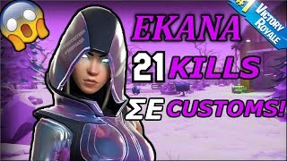 🔥 *ΑΠΙΣΤΕΥΤΟ* Πήρα win με 21 kills σε customs!!🔥(BadKarmaGR)(fortnite battle royale)
