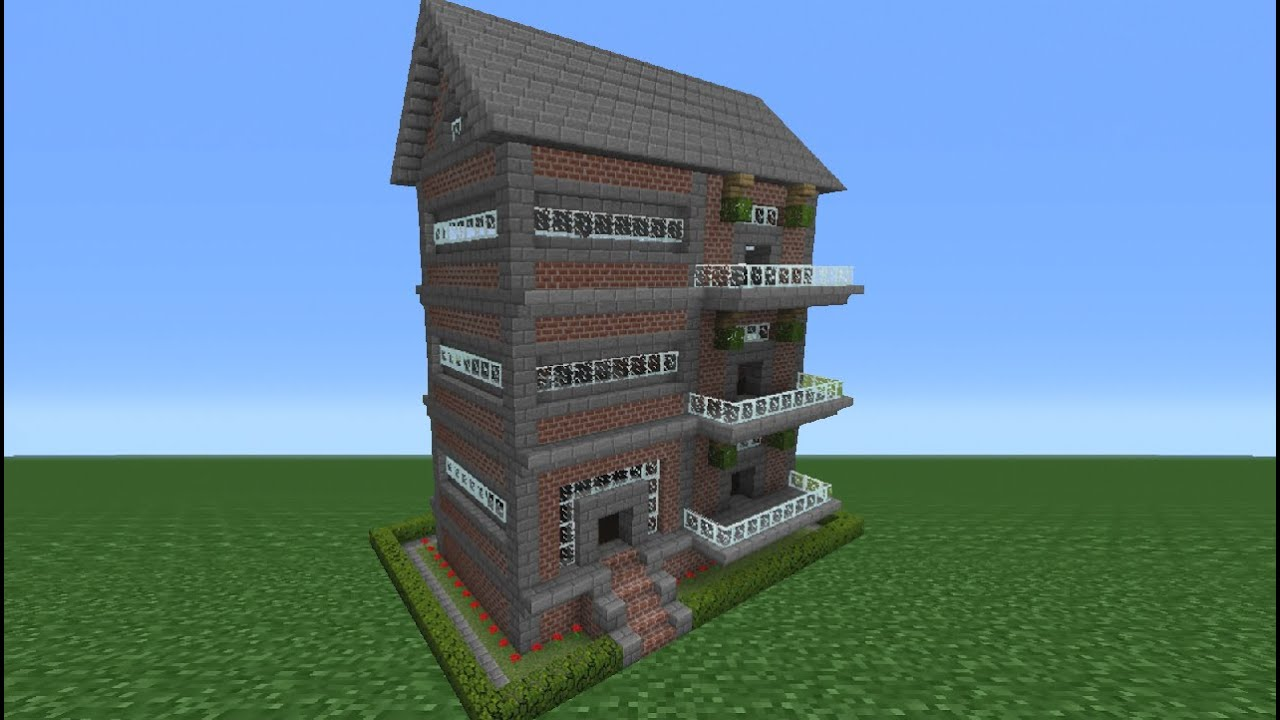 Minecraft Tutorial  How To Make A Brick House - 9