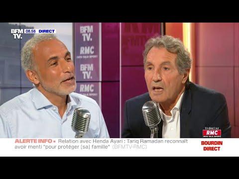 Echange tendu entre Tariq Ramadan et Jean-Jacques Bourdin sur RMC et BFMTV