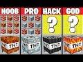Minecraft Battle: SUPER TNT CRAFTING CHALLENGE - NOOB vs PRO vs HACKER vs GOD ~ Minecraft Animation