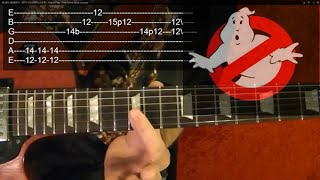GHOSTBUSTERS Theme - Guitar Lesson