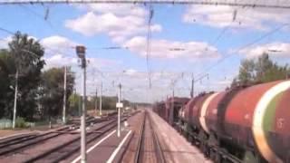 Мичуринск-В - Рыбное | Вид из кабины ЭП10-009 / Russia cab ride locomotive EP10, 2007 year.