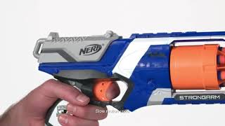 Nerf N Strike Elite Strongarm Toy Blaster with Rotating Barrel Slam Fire 6 Official Nerf xeroxe.com