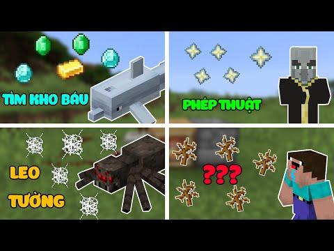 7 Sinh Vật (Mobs) Và KHẢ NĂNG ĐỘC NHẤT Của Chúng Trong Minecraft - Tìm Kho Báu !!