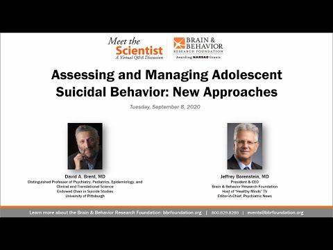 Assessing and Managing Adolescent Suicidal Behavior: New Approaches