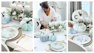 NEW! Teal Harvest Tablescape w/Christmas Tree Shops andThat!