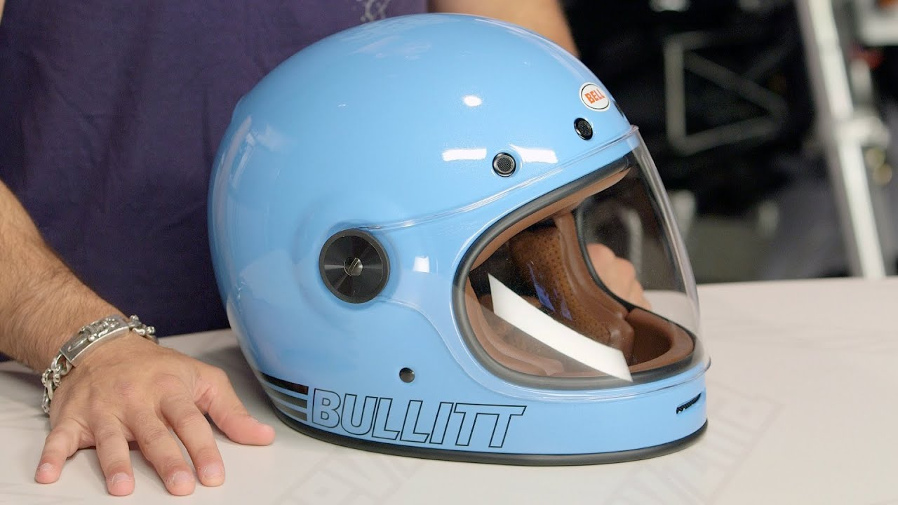Bell Racing Helmets >> Bell Bullitt Retro Blue Helmet Review at RevZilla.com - YouTube