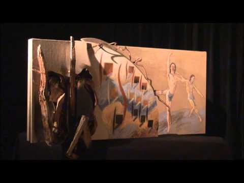 Art Abstract Painting 3D Assemblage  - 1 Rhythm Study