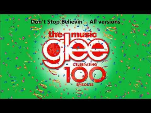 Glee - Don't Stop Believin' - All versions (PIlot, Regionals, Rachel Solo, New Directions)