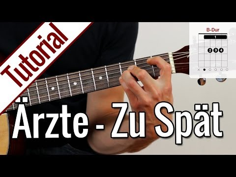Die Ärzte - Zu Spät | Gitarren Tutorial Deutsch