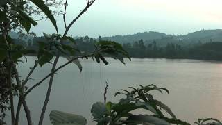 Crater lake in the heart of Uganda