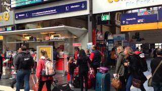 Bahnstreik in Frankfurt: Ein leerer Hauptbahnhof