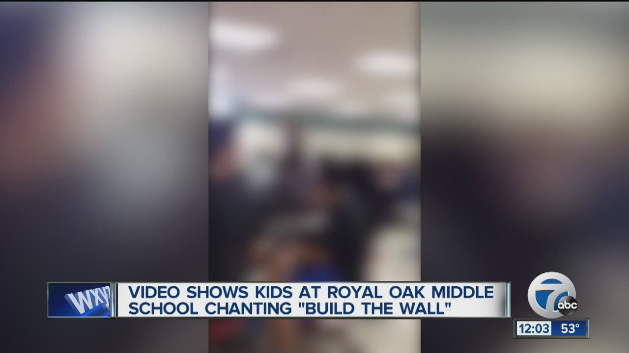 Royal Oak Middle School students chanted build the wall