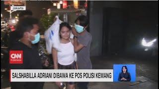 Tabrak 2 Mobil, Salshabilla Adriani Dibawa ke Pos Polisi