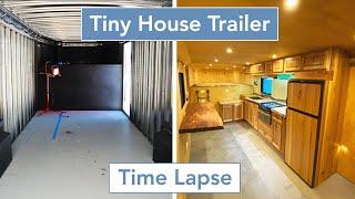 Tiny House Trailer Timelapse | Start To Finish Gooseneck Build