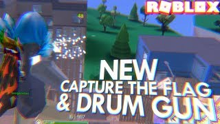 FIRST TIME USING the NEW DRUM GUN & CAPTURE THE FLAG in STRUCID (Roblox)