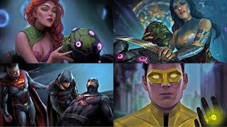 Injustice 2 - All Base Character Endings (Multilanguage Subtitles)