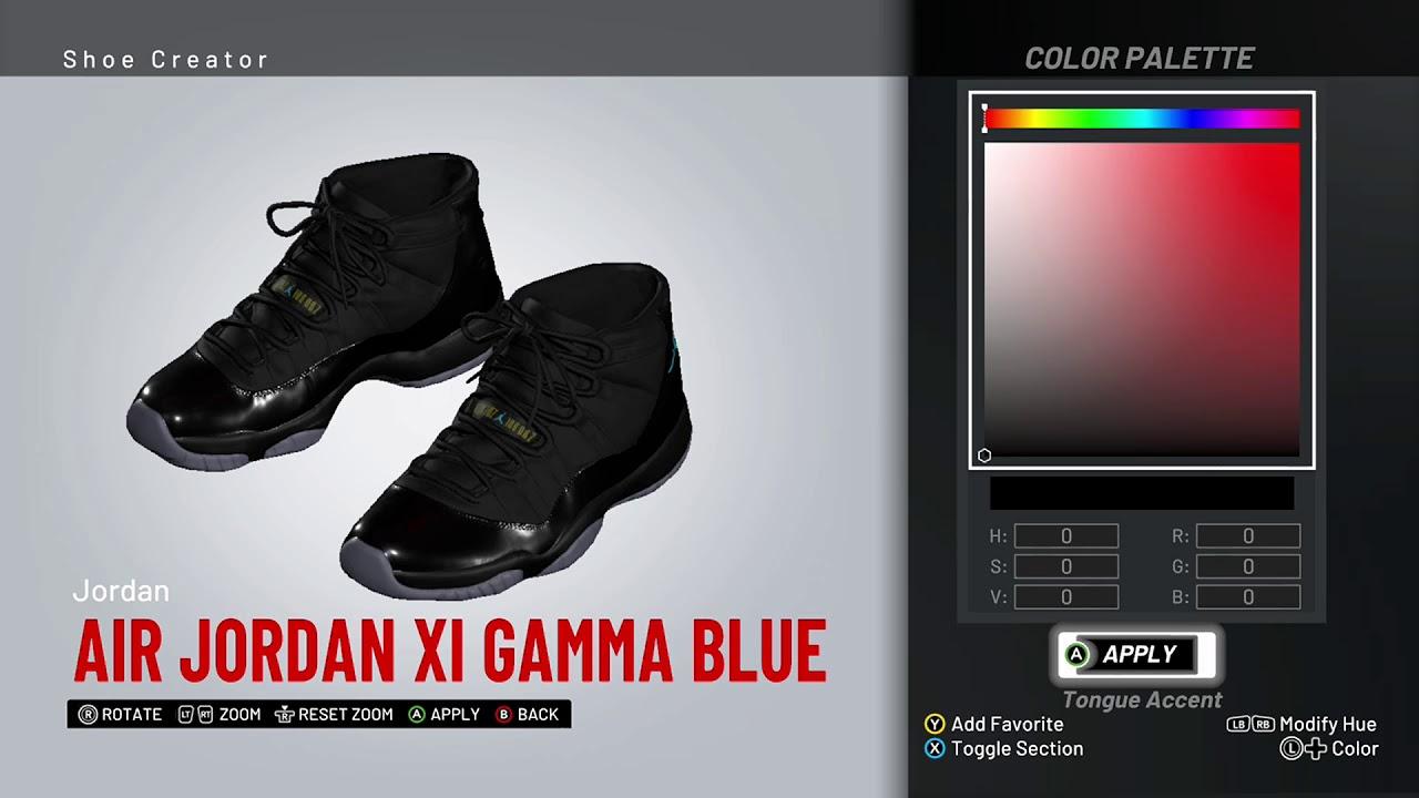 14aa40aceaef NBA 2K19 Shoe Creator - Air Jordan 11
