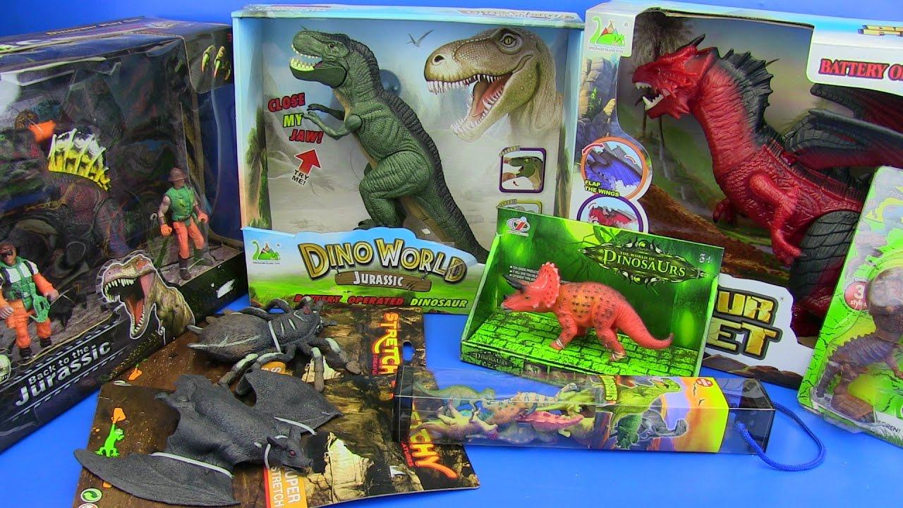 DINOSAURS TOYS FOR KIDS ! Dinosaurs Jurassic World T-Rex,Dragon   video for  kids
