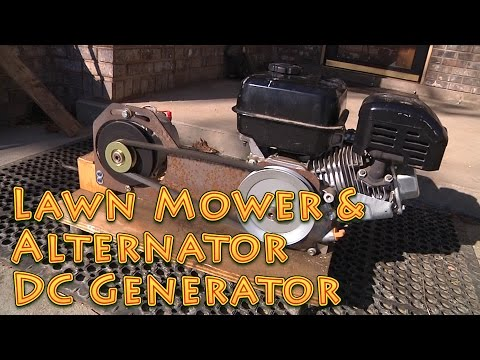 DC Lawn Mower and Alternator Generator Build