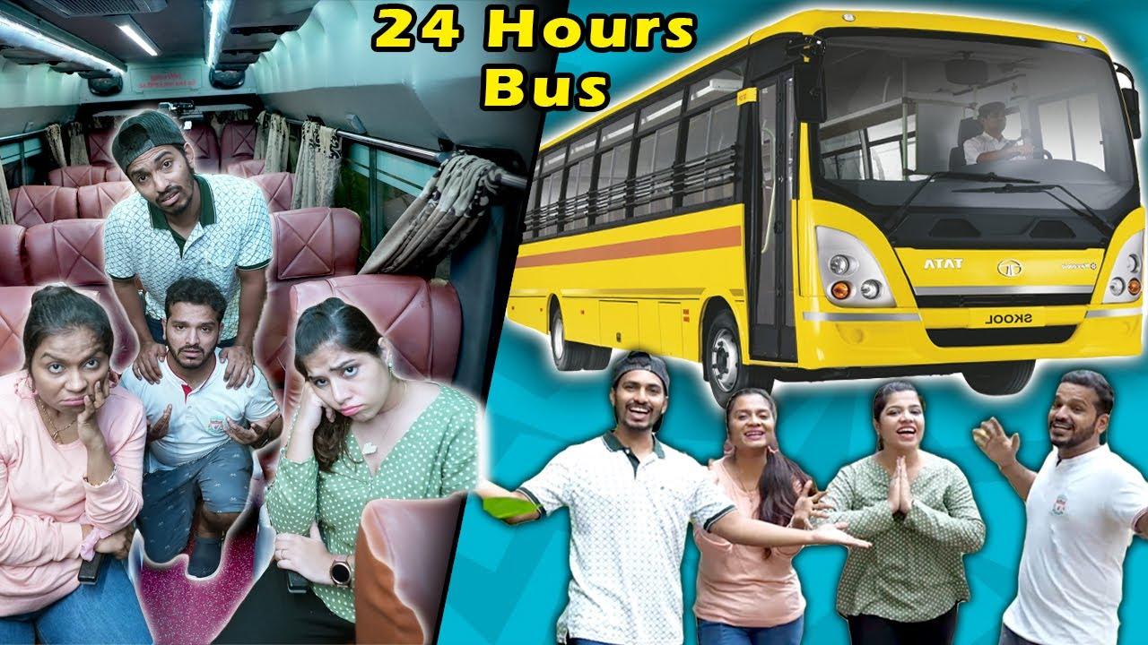 Download Living Inside A Bus For 24 Hours | Challenge Video India | Hungry Birds