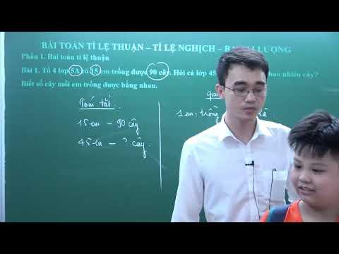 Tỉ lệ thuận - Tỉ lệ nghịch - Toán lớp 5 - thầy Nguyễn Thành Long