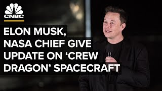 WATCH LIVE: Elon Musk and NASA chief give an update on SpaceX's astronaut spacecraft – 10/10/2019