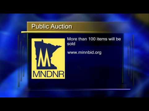 Minnesota DNR Public Auction of Surplus Equipment - Lakeland News at Ten - August 28, 2014