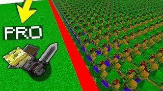 1 ELITE PRO vs 100 ZOMBIE   MINECRAFT SYMULATOR WALK CCBS