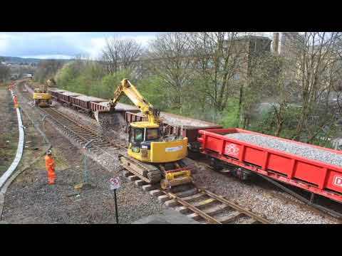 Sowerby Bridge station:  Track replacement time lapse footage