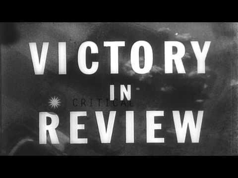 Civilians of New York celebrate the surrender of Japan in World War II, at Times ...HD Stock Footage