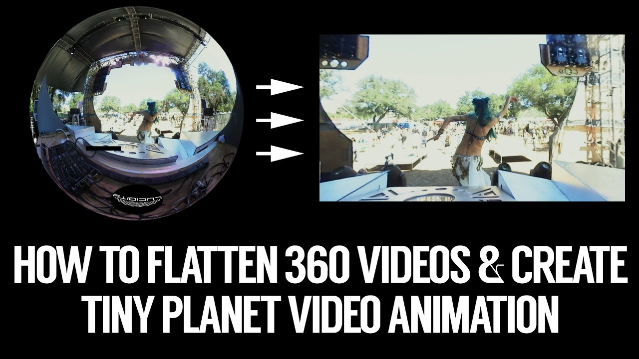 Flatten Gear / Keymission 360 video into standard video add tiny planet  animation w/ Insta360 Studio