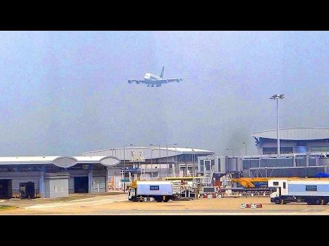 大重慶歷史文化探訪之旅香港機場北衛星客運廊吸煙區看飛機降落 Hong Kong Airport (Hong Kong) - YouTube