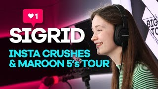 Sigrid talks Instagram crushes and touring with Maroon 5