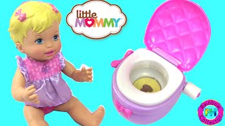 Potty Training with the Little Mommy Princess Potty Doll with Toilet Sound Effects
