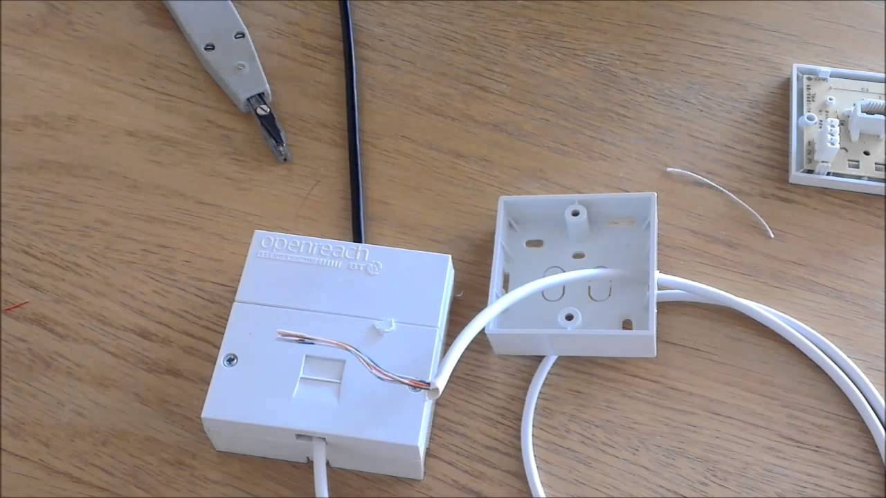 how to wire a phone extension from a bt master socket uk youtube rh youtube com Telephone Box Outside House Telephone Wall Jack Wiring Diagram